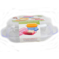DUNYA Covered Butter Dish Transparent Covered Fridge Safe Container Plastic