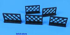 LEGO No- 4188953 / 1x4x2 Railway Grid Fence black / 5 Pcs