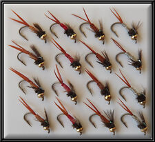 16 GOLD HEADED COPPER RED SILVER GOLD JOHN NYMPHS FLIES HAND TIED TROUT FISHING