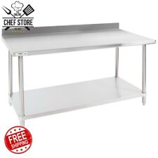 Heavy Duty 30 x 60 Stainless Steel Work Prep Commercial Table 16 Gauge Nsf