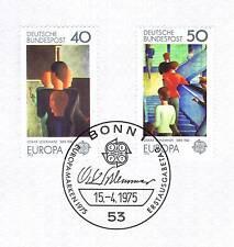 BRD 1975: Europa marcas Oskar-Schlemmer-pinturas nr 840+841! bonner sello! 1605