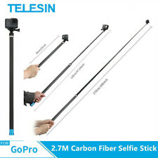 "TELESIN 106"" Carbon Fiber Selfie Stick for GoPro DJI Osmo Action action camera"