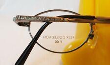 Flex Collection #66 Antique Pewter Wire Rim Eyeglass Frames 44[]19-135 UNUSED