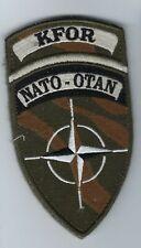 Patch NATO OTAN KFOR Kosovo with velcro - NEW