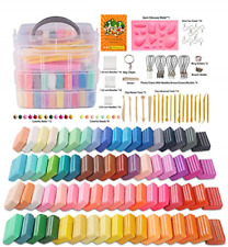 Polymer Clay, Farielyn-X 60 Colors 1 oz/Block Soft Oven Bake Modeling Clay Kit,