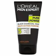 3 X L'oreal Men Expert Pure Power Black Charcoal Wash 150ml Each