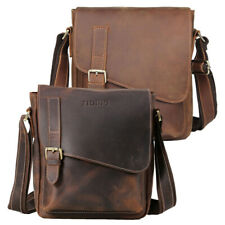 Vintage Men Leather Satchel Shoulder Messenger Bag Business Bag Cross Body Bag