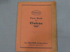 original Oliver Cletrac DG Crawler Tractor Parts Catalog List Manual 1945