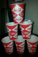 (10) Vintage 1970's Coca Cola Coke Plastic Wax Cups Advertising Small 3oz