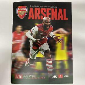 Arsenal v Aston Villa 2021 / Programme / Premier League / 22-10-21 / 22nd Oct