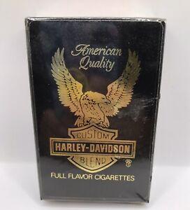 Vintage HARLEY DAVIDSON CIGARETTES Playing Cards Advertising NEW SEALED Deck NOS