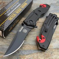 Tac Force Open Assisted Fire Department Fire Fighter Rescue Tactical Knife