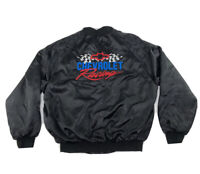 Chevrolet Racing black Satin Jacket. Pre-owned. Great Condition. Size X large