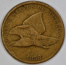 1858 Flying Eagle 1 Cent Affordable US Coin