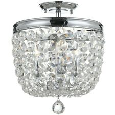 Crystorama Archer 3 Light Crystal Polished Chrome Ceiling Mount - 783-CH-CL-MWP