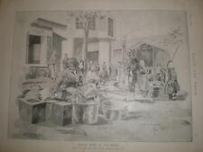 Market at Balikesir Turkey Rene Bull 1897  print Ref L