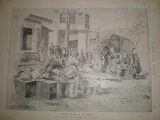 Mercado en Balikesir Turquía Rene Bull 1897 impresión ref L