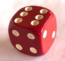 Vintage Bakelite Red Dice 1-1/4 x 1-1/4 inches