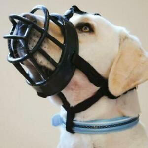 Dog Safety Muzzle Muzzel Adjustable Anti Biting Barking Chewing Plastic Basket