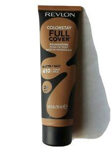 Revlon Colorstay Full Cover Foundation, Matte #410 Toast, 24 Hour, 1 Fl Oz
