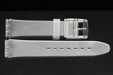 17MM FROSTED MATTE WHITE RESIN RUBBER WATCH BAND FITS STANDARD SWATCH WATCH