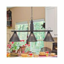 Large Wellington Wooden Island Light in Black