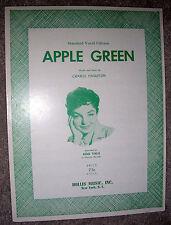 1960 APPLE GREEN Sheet Music JUNE VALLI by Charlie Singleton
