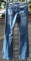 Rue 21 Mid Rise Flare Blue Jeans Twenty One Black NWT Distressed Womens Size 0
