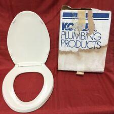 "TS-72 Kohler Toilet Seat w/Lid Cream Elongated Bowl 18 1/8"" x 14 1/8"""