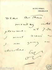OSCAR WILDE Signed Letter - Writer / Author / Poet / Humourist - preprint