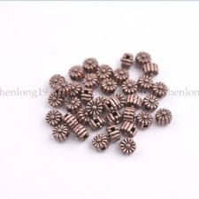 100PCS Tibetan Silver TIBETAN DAISY FLOWER Spacer Beads Charm Findings   SH3115
