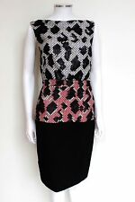 £990 Balenciaga Snake Combo 2012 Pixilated Wool Dress 36 UK 8
