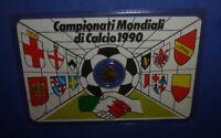 Tessera Calcio con Moneta Campionati Mondiali di Calcio 1990