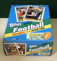 1992 TOPPS FOOTBALL SERIES 1 & 2 WAX BOXES 72 PKS/15 WITH 1 GOLD CARD PER PK