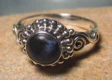 Sterling silver cabochon Pietersite everyday ring UK J/US 4.75-5