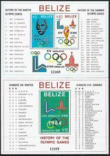 BELIZE :1981 History of the Olympics Min sheets SGMS628 MNH