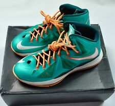 NIKE MEN LEBRON X 10 MIAMI DOLPHINS ATOMIC TEAL SZ 12
