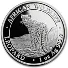 2018 1 Oz Silver 100 Shillings African Wildlife LEOPARD Coin.