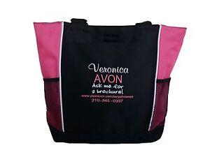 TOTE BAG Personalized Avon Rep Makeup Ask Me For a Brochure Custom Website Phone