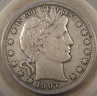 1907-S Barber Half Dollar 50c PCGS Certified VF30