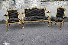 Exquisite Antique 19th C. French Louis XV Gilded Living Room, Parlor Set