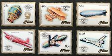 1983 Niue History of Manned Flight Compl Set of 6 MUH SG 496-501 Combined Pstge