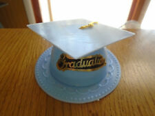Light Blue Graduation Cap Hat Cake Topper Kit Cupcake Candy Cookie Decorations