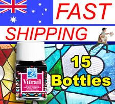 Vitrail Glass Stain - Glass paints - Choice of 18 colours - 15 Jar Bundle