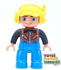 *NEW* LEGO DUPLO Train Station Airport Construction Worker Man Boy Figure Vest