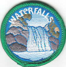 """""""WATERFALLS"""" PATCH - NATURE - EARTH - WORDS -Iron On Embroidered Applique Patch"""