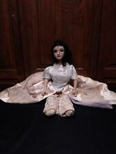 Antique Bed Boudoir Doll Skinny Legs All Original 1920s vintage