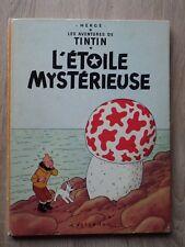 ALBUM HERGE TINTIN L'ETOILE MYSTERIEUSE Plat B35 1964 Bon état Dos Imprimé