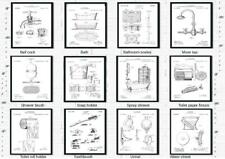 BATHROOM Patent Prints - Sets of Your Choice - Unique quirky for your Bathroom