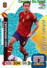 XAVI HERNANDEZ ESPANA SPAIN LIMITED EDITION RARE CARD ADRENALYN EURO 2012 PANINI